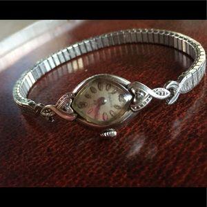 Ladies Vintage Bulova Wristwatch with diamond